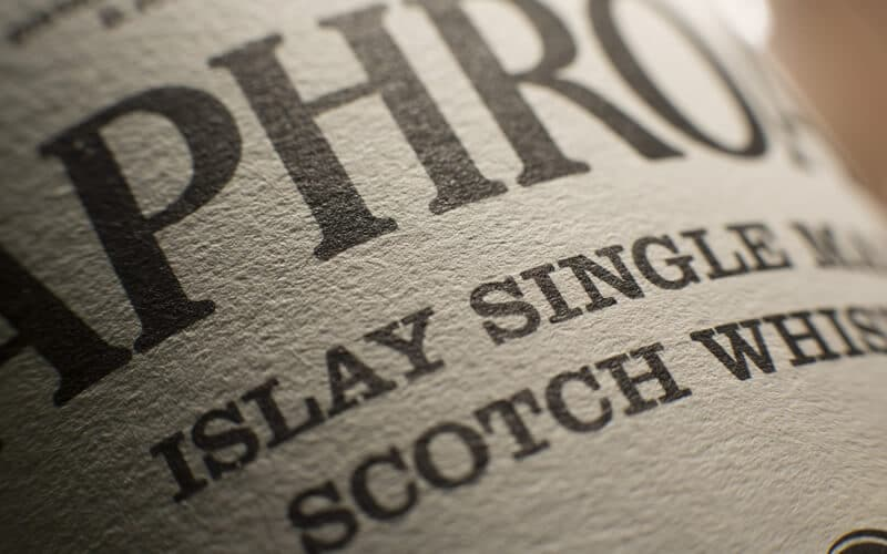 Laphroaigh Islay Single Malt Label