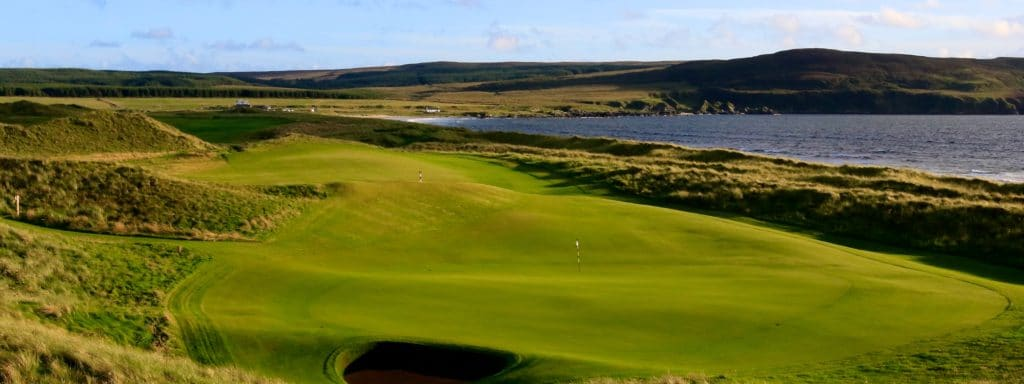 7th green at The Machrie Links on the Isle of Islay, Argyll and Bute, Scotland.